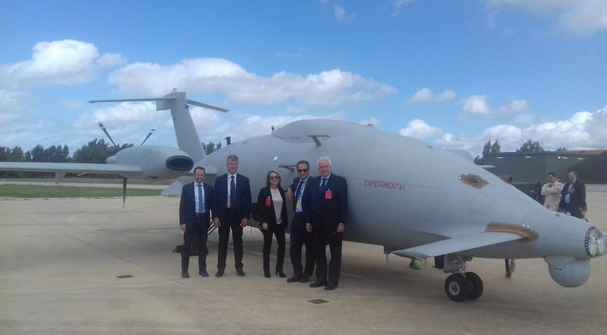 Primo volo sperimentale del p1hh piaggio per il progetto cuav