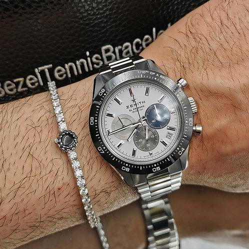 B.T.B. Eco Silver White Tennis Bracelet