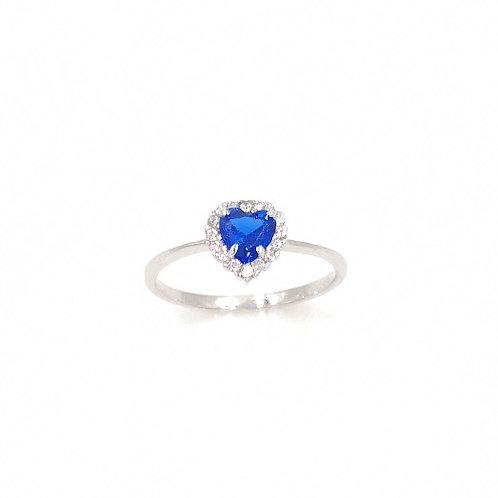 Anello Cuore Blue