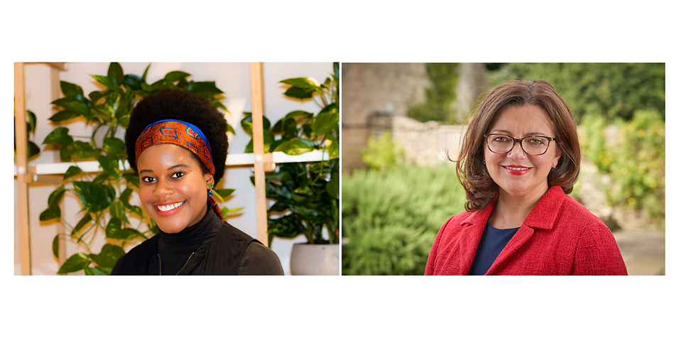 """Iana Vidal """"in conversation"""" with Sarah Pinch on """"what a communication background brings to the boardroom"""""""