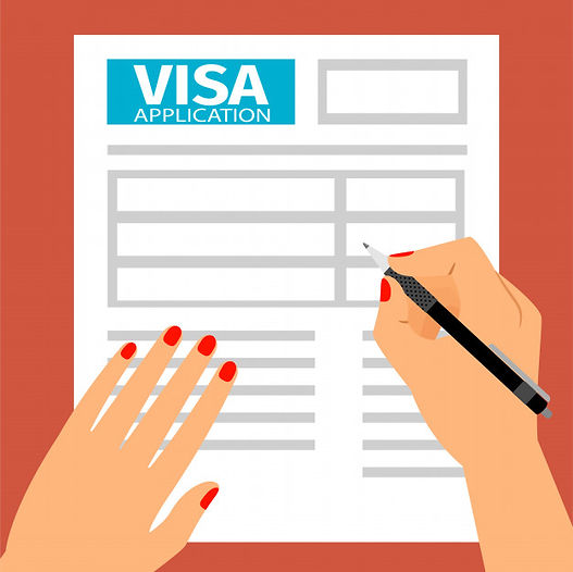 woman-hands-filling-out-visa-application