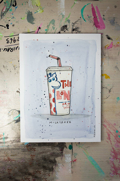 Milkshake Watercolour Original