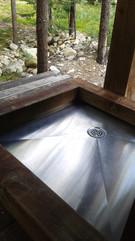 Base de douche extérieur en acier inoxydable