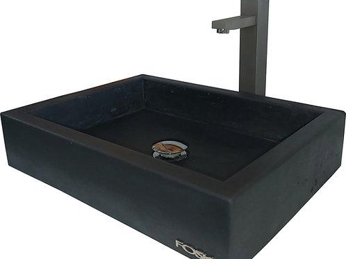 Lavabo de salle de bain en béton Le noir Onyx