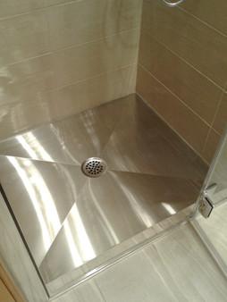 Base de douche en acier inoxydable