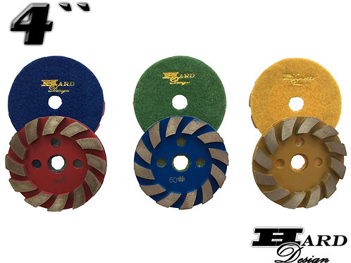 Segmented wheel - Velcro - 4 ""