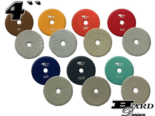 NEW'' 4'' ECONOMIC WET POLISHING PAD SET / KIT