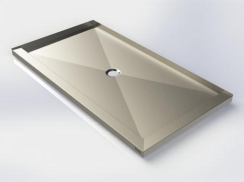 Base de douche en acier inoxydable 32''/36'' x 40''
