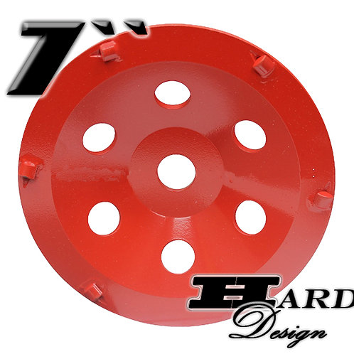 Segmented Wheel - PDC - 7 ""