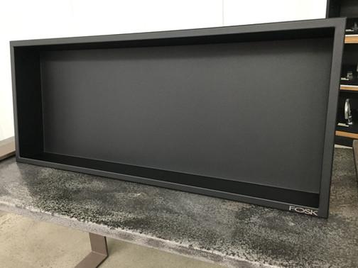 Niche de docuhe en inox émaillé noir