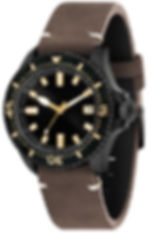 High quality leather strap watch