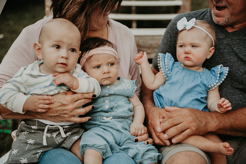 grandparents with 6 month old babies