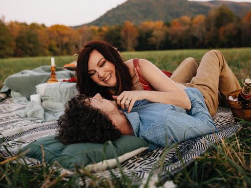 Marita & Spencer's Romantic Smokies Engagement Session