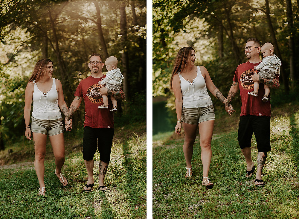 family session with 6 month old baby
