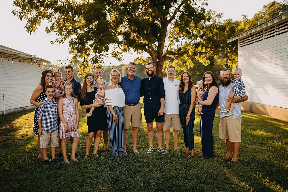 Large Extended Family Session in Gatlinburg, TN