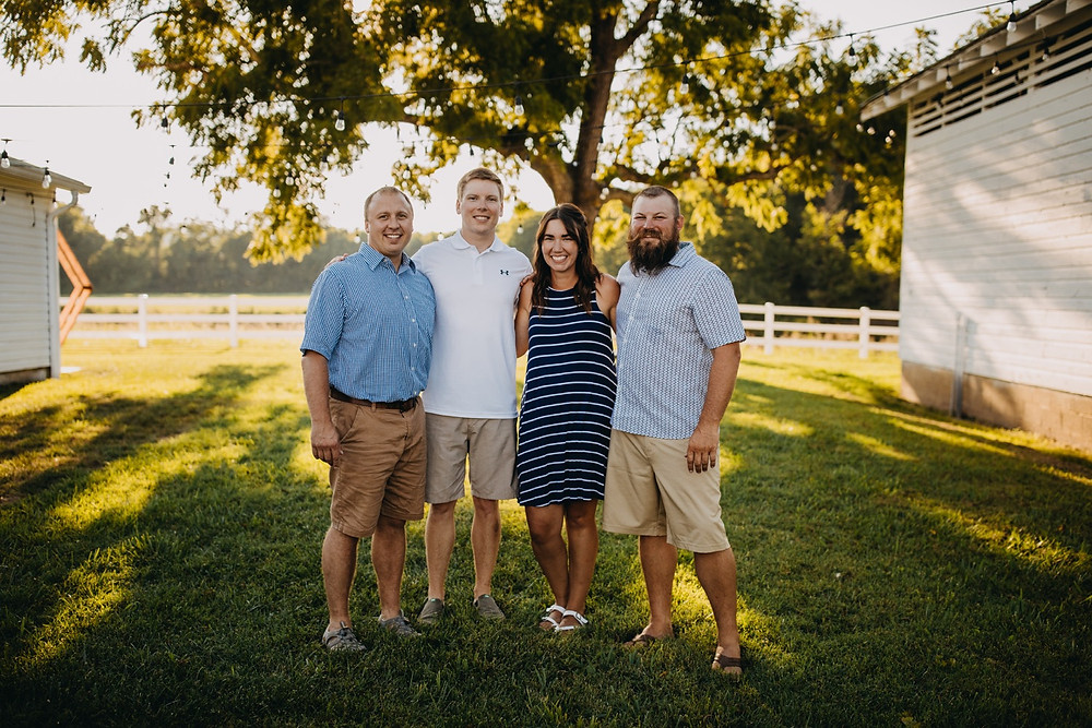 Family session in Gatlinburg and Knoxville, Tennessee during Golden Hour