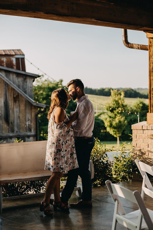 Random couple during wedding reception