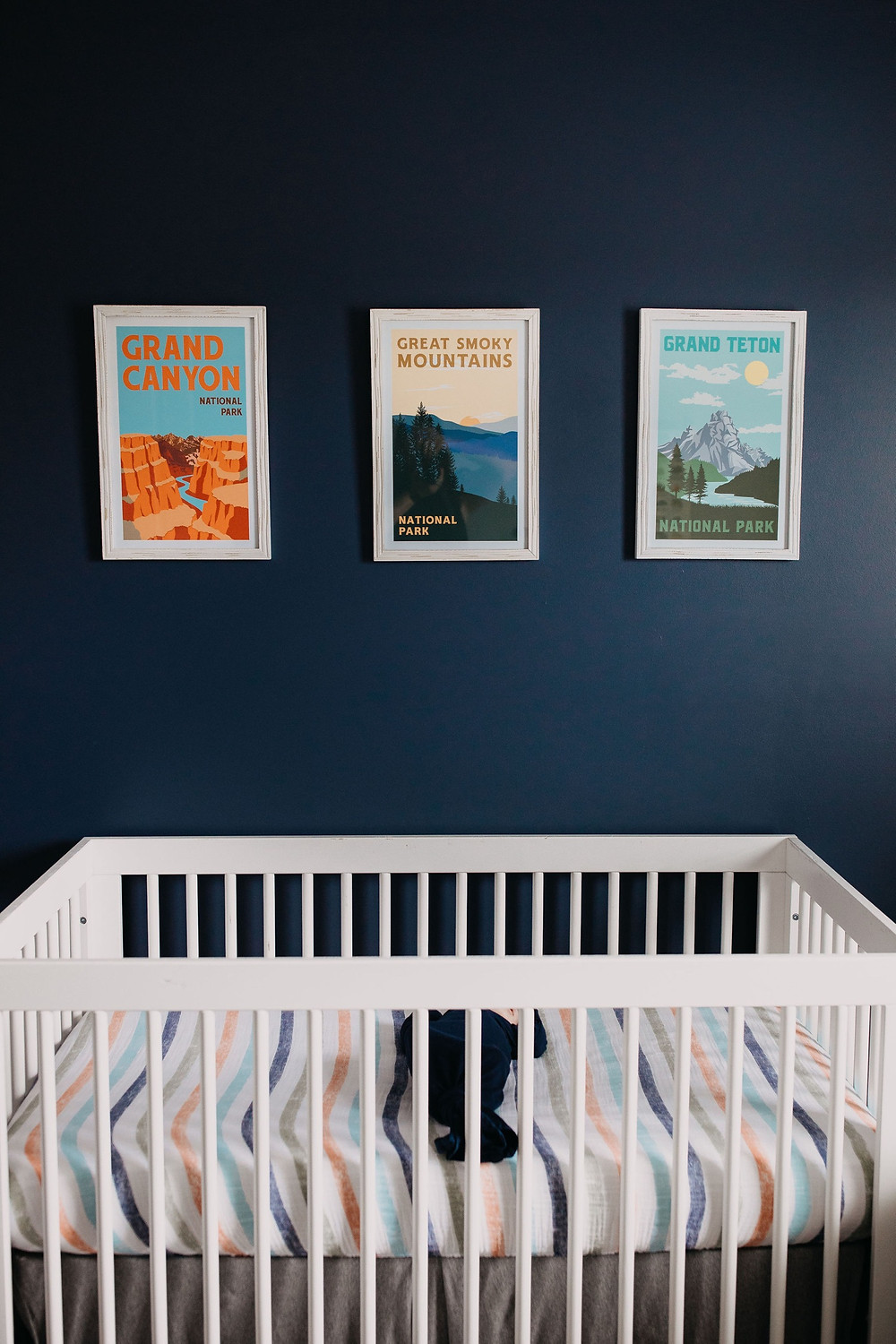 Newborn baby boy adventure outdoors themed nursery