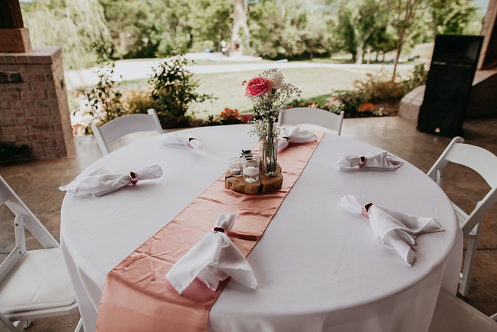 Table Decorations for Wedding with Blush Pink