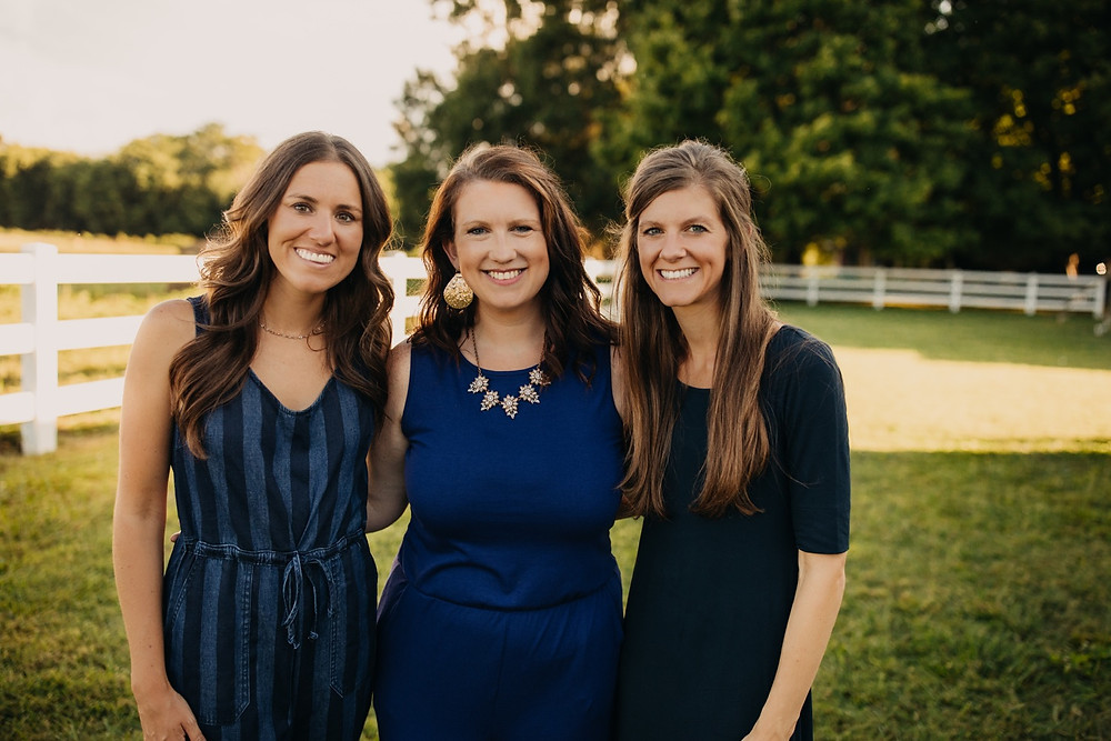 three sisters smiling during family session in Gatlinburg and Knoxville, Tennessee