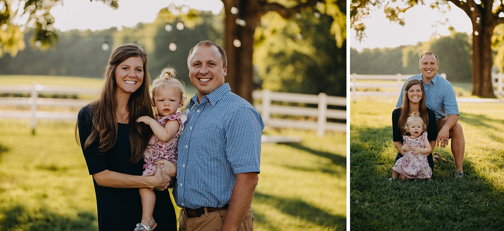 Family session in Knoxville and Gatlinburg, TN during golden hour
