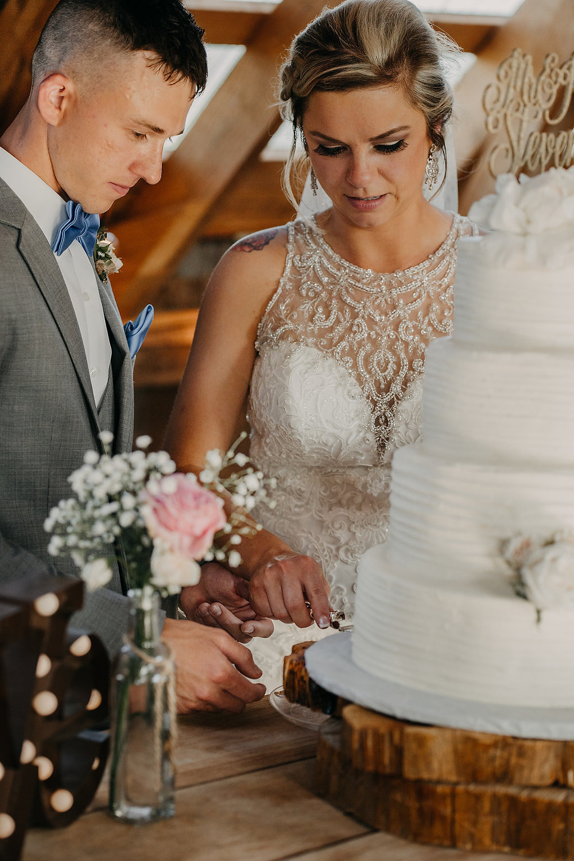 Wedding Couple cutting cake