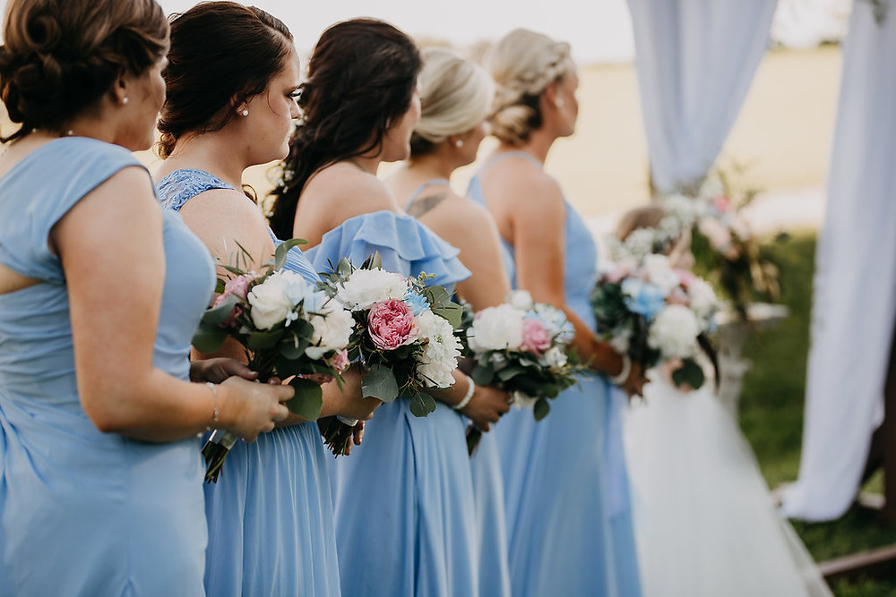 Wedding Ceremony Pictures Bridesmaids