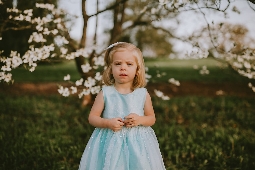 2 year old girl for spring pictures