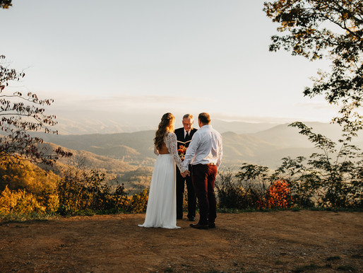 Brooks Vow Renewal in the Smoky Mountains