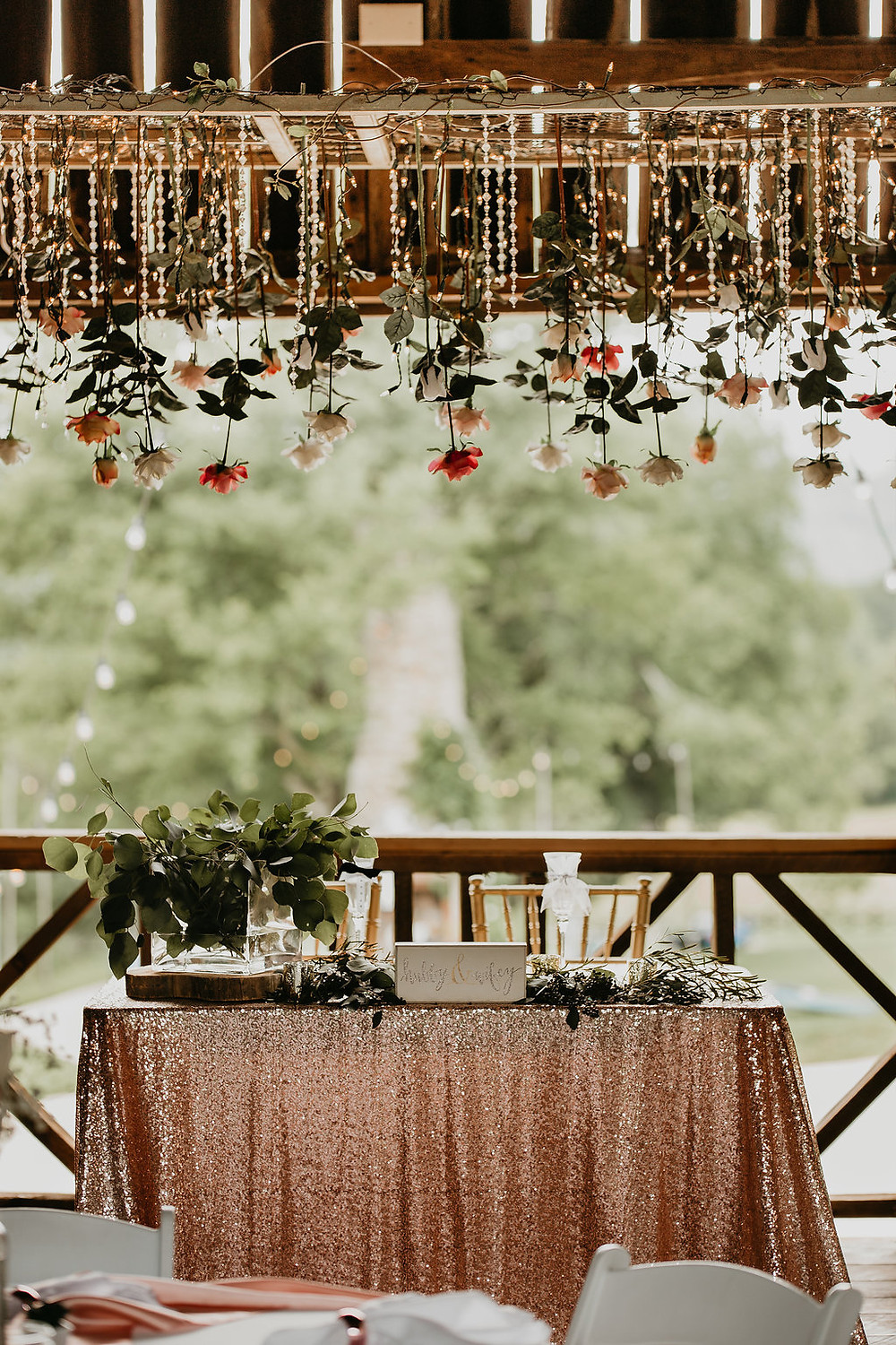 Sweetheart Table Decorations with Blush Pink