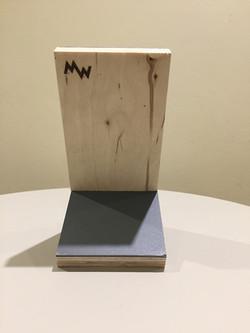 Ply Marmoleum smart phone stand