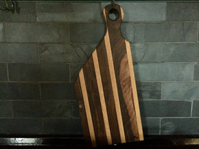 oak & walnut large cutting board
