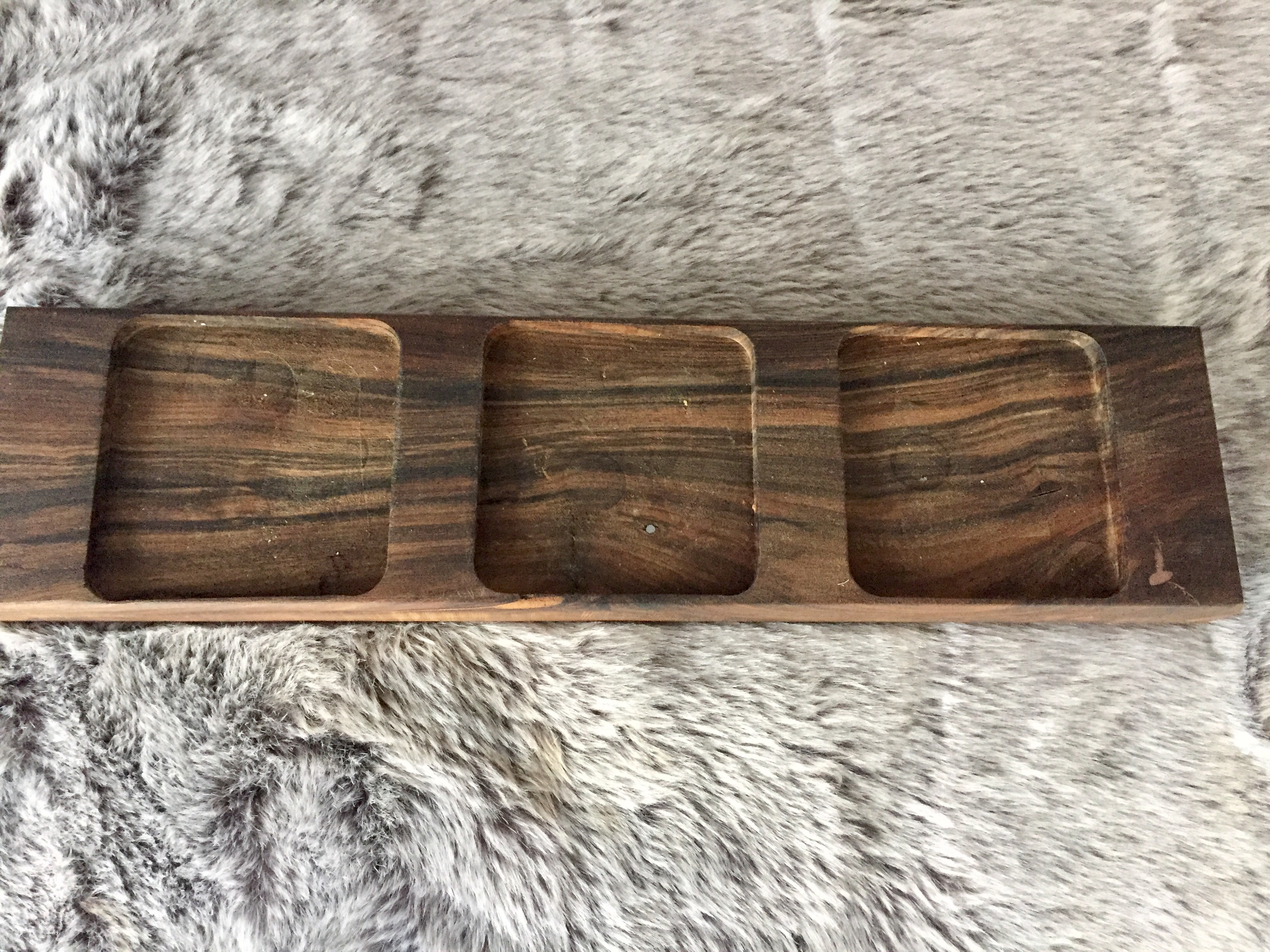 walnut candle holder