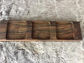 wood walnut 3 candles