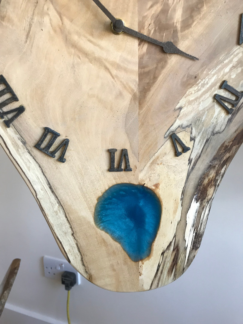 Blue Epoxy Resin Clock
