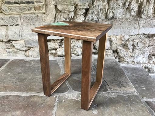 Small Epoxy Walnut side table