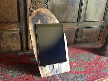 ipad wooden stand