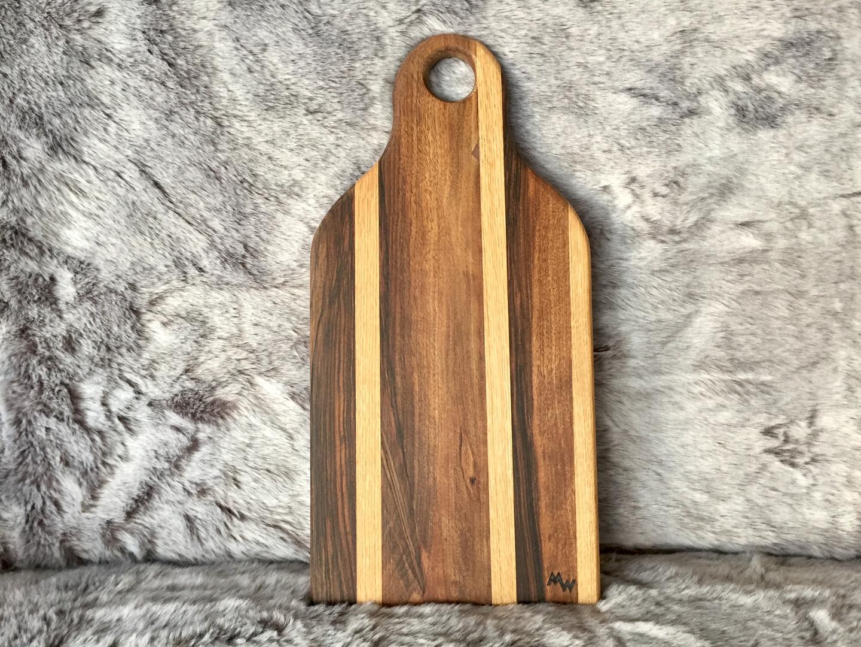 walnut & oak laminated board