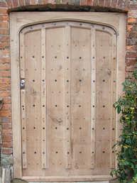 English Oak Nailed Door