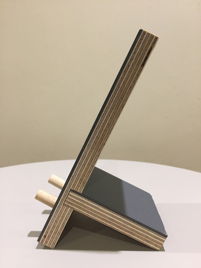 Ply Marmoleum gadget stand