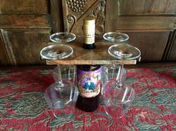 Walnut wine glass holder