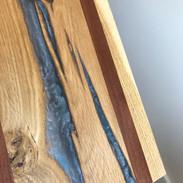Grey Epoxy Resin- Oak sapele board