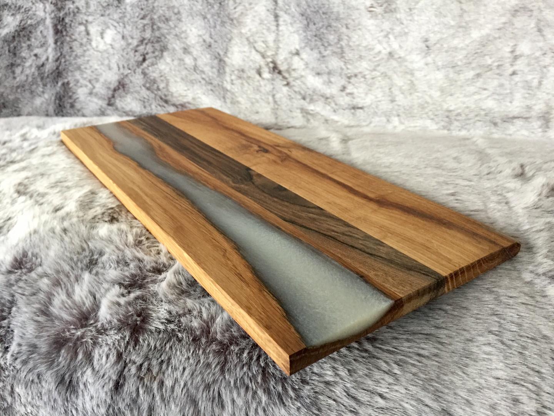 White Epoxy Resin cutting board