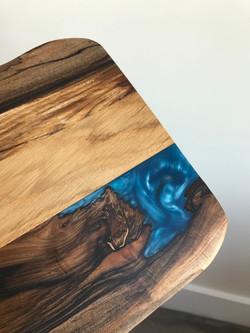 Electric blue resin board