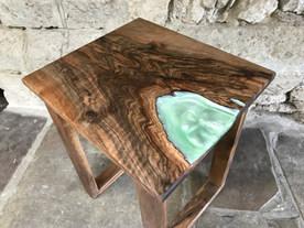 Walnut Resin Side table
