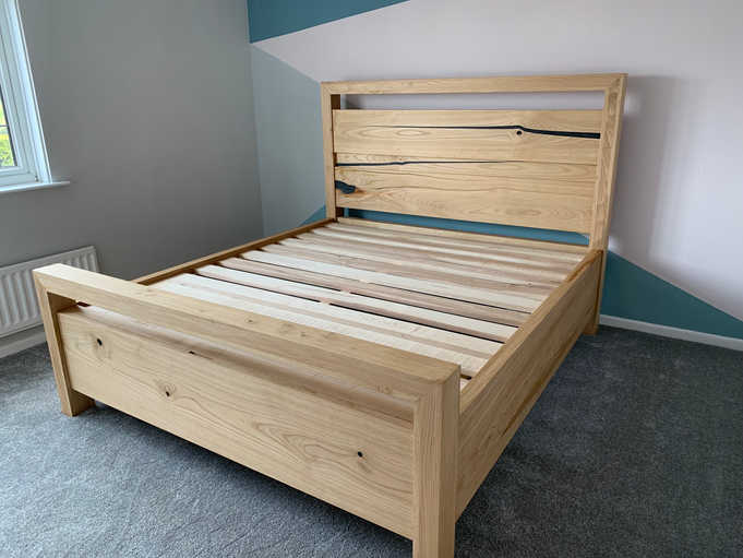 Chestnut Bed with Grey Resin  IN Room .j