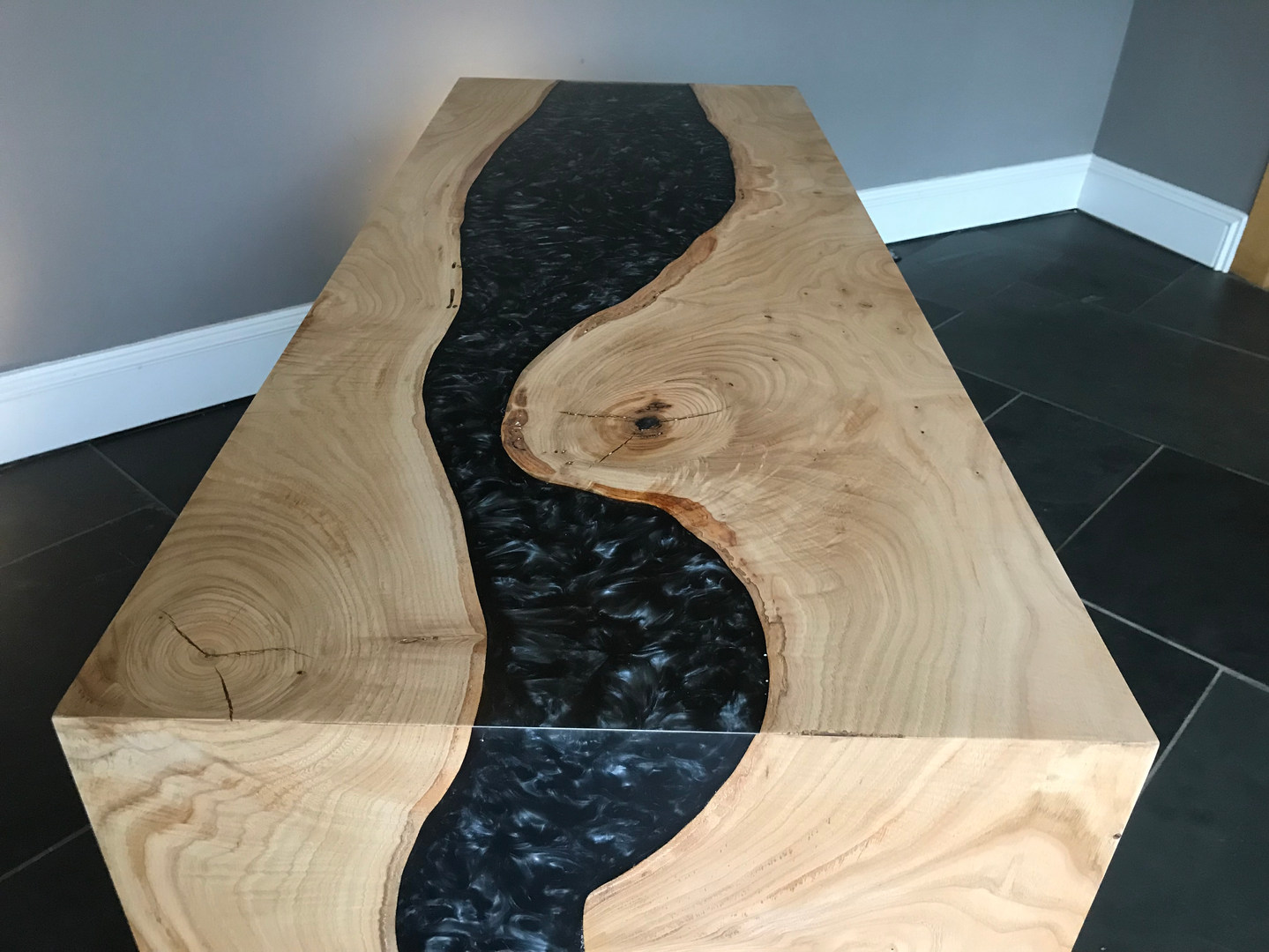 Grey Epoxy Resin table