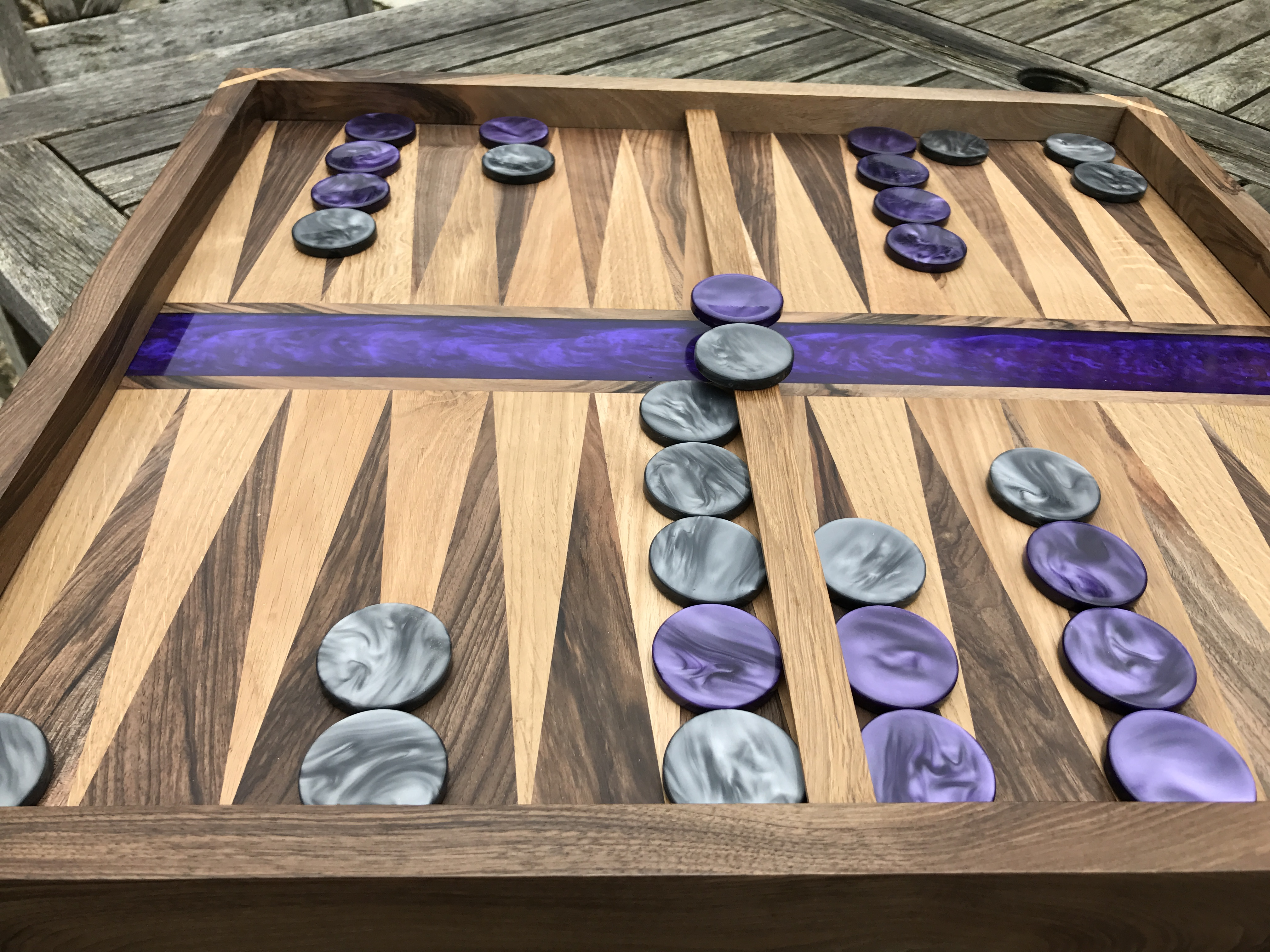Epoxy Resin backgammon board