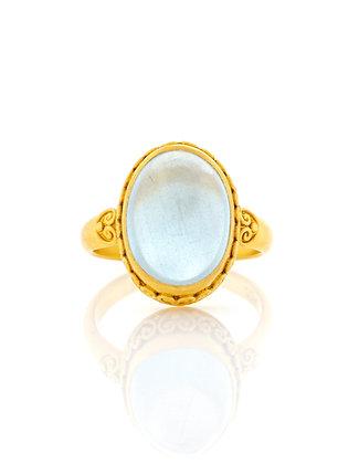 22K Yellow Gold Aquamarine Ring
