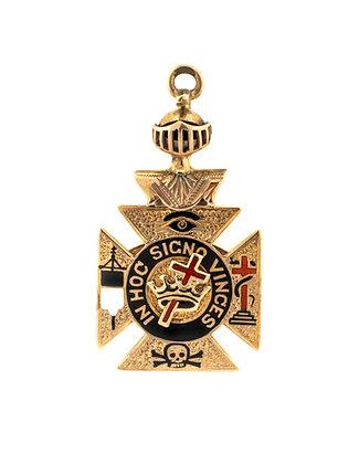 10K Yellow Gold Masonic Medallion
